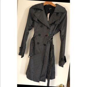 BEBE DB Satin Trench Coat